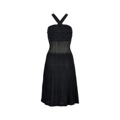 Chanel halterneck black dress 2?1526964188