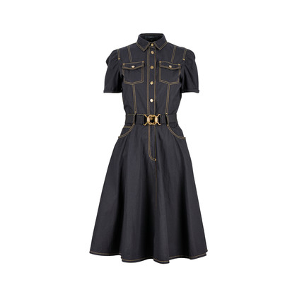 Authentic Second Hand Gucci Contrast Stitch Shirt Dress (PSS-200-00615)