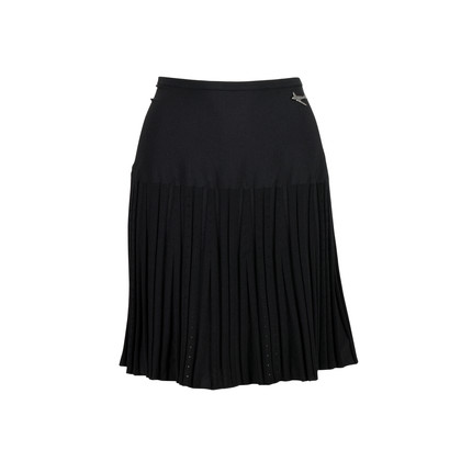 Authentic Second Hand Chanel Pleated Knit Skirt (PSS-200-00666)