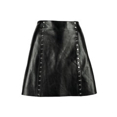 Studded Leather Mini Skirt