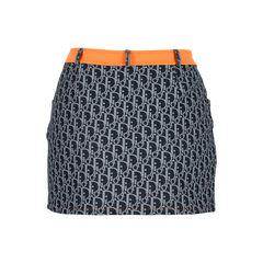 Christian dior orange top stitch detail dior skirt 2?1527051769