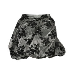 Moschino black metallic skirt with applique 2?1527051881
