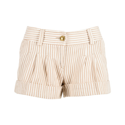Authentic Second Hand Moschino Striped Cotton Shorts (PSS-200-00656)