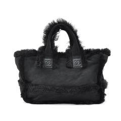 Mouton Fur Tote Bag