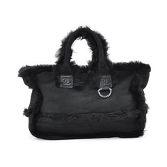 Chanel fur and suede tote bag 2?1527057469