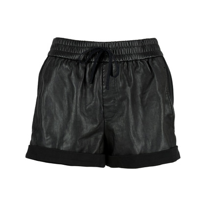Authentic Second Hand Helmut Lang Leather Panel Shorts (PSS-200-00583)
