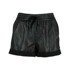 Leather Panel Shorts