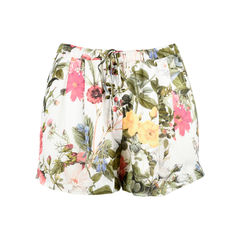 Floral Silk Shorts