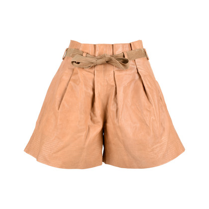 Authentic Second Hand See by Chloe Tie Waist Leather Shorts (PSS-200-00513)