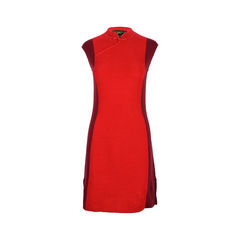 Red Wool Qipao Dress