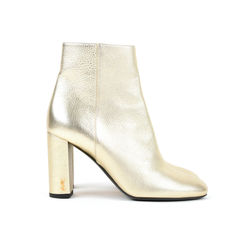 Saint laurent metallic ankle boots 6?1527229045