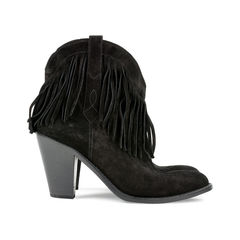 Saint laurent new western fringe booties 2?1527490140