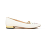 Authentic Second Hand Charlotte Olympia Embroidered Cotton Kitty Flats (PSS-200-01294) - Thumbnail 1
