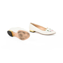 Authentic Second Hand Charlotte Olympia Embroidered Cotton Kitty Flats (PSS-200-01294) - Thumbnail 4