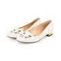 Authentic Second Hand Charlotte Olympia Embroidered Cotton Kitty Flats (PSS-200-01294) - Thumbnail 5