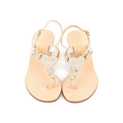 Embellished Heart Sandals