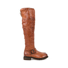 Frye leather fur buckle knee high boots 2?1527490696