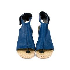 Calf Hair Espadrille Wedge Sandals