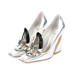 Christian dior metallic pumps 2?1527493782