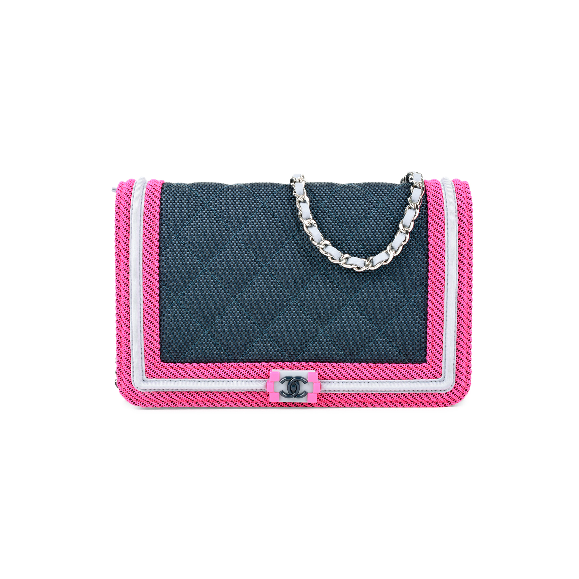 Authentic Pre Owned Chanel Fluo Wallet on Chain (PSS-464-00006)   THE FIFTH  COLLECTION® d006ebcc996
