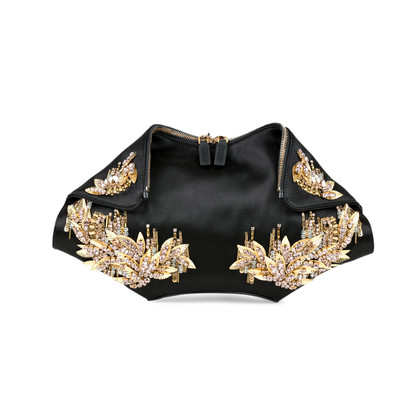 Alexander Mcqueen De Manta Medium Embellished Clutch
