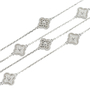 Authentic Second Hand Van Cleef and Arpels Diamond Sweet Alhambra Necklace (PSS-473-00071) - Thumbnail 1