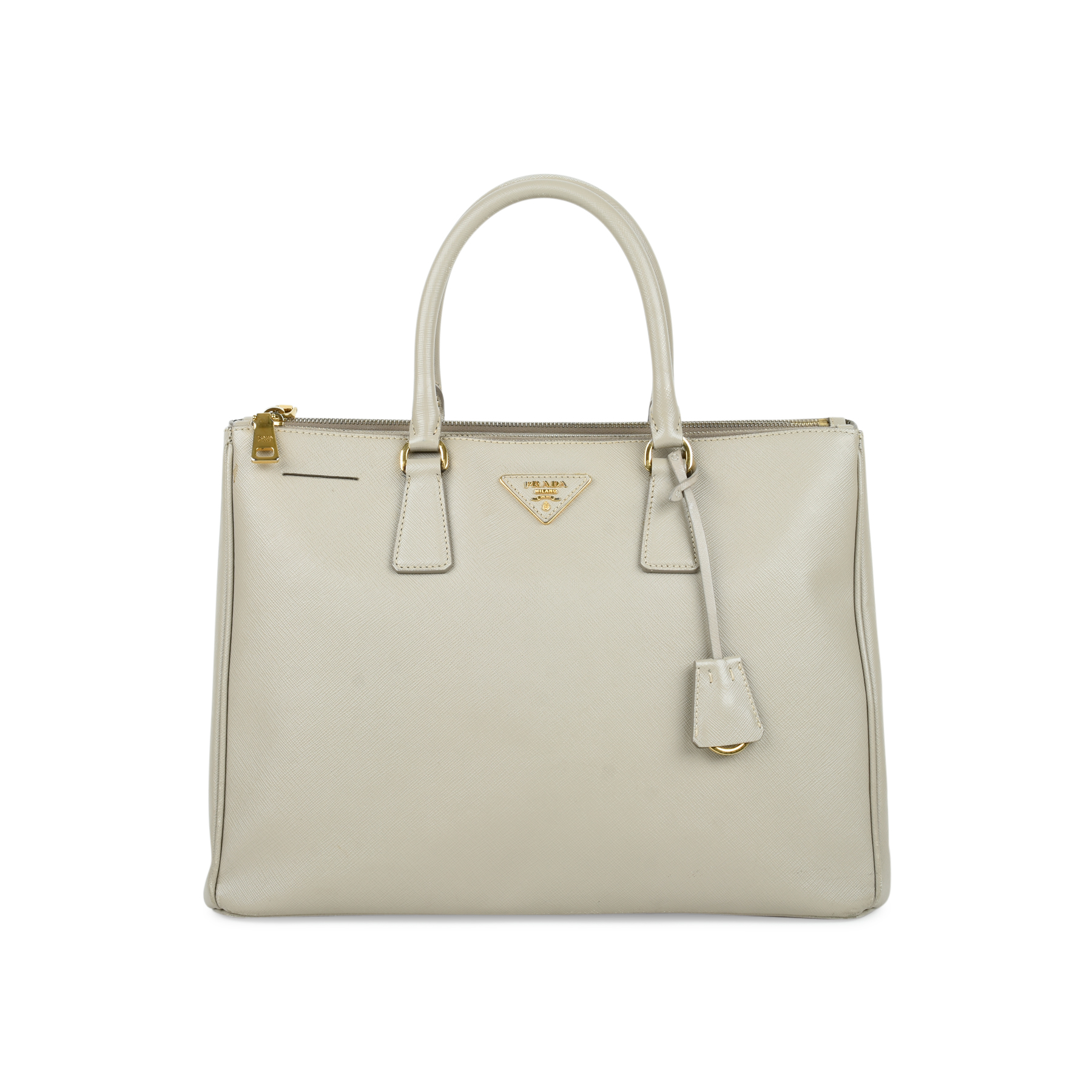 4563ceb13aac Authentic Second Hand Prada Saffiano Lux Double Zip Tote (PSS-494-00002) |  THE FIFTH COLLECTION