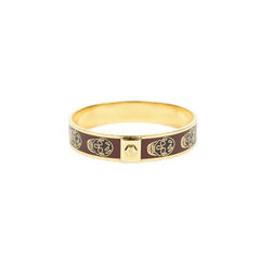 Alexander mcqueen gold enamel skull bangle 2?1527756318