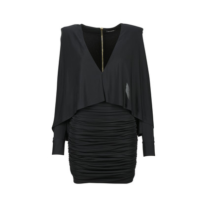 Authentic Second Hand Balmain Ruched Batwing Jersey Dress (PSS-473-00077)