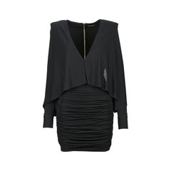 Ruched Batwing Jersey Dress