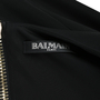 Authentic Second Hand Balmain Ruched Batwing Jersey Dress (PSS-473-00077) - Thumbnail 2
