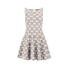 Shimmer Knit Flared Dress
