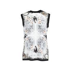 Madonna Print Sleevless T-Shirt