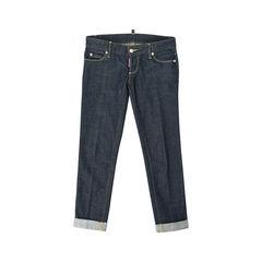 Bow Detail Capri Jeans