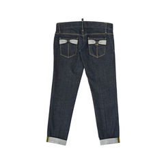 Dsquared2 bow detail capri jeans 2?1528087483