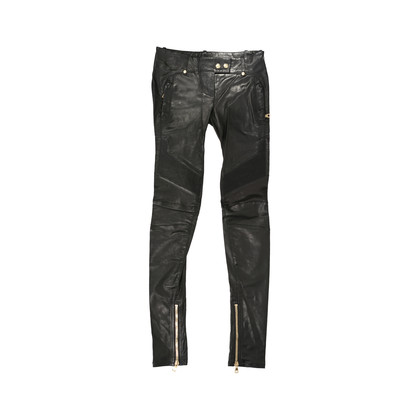 Authentic Second Hand Balmain Leather Moto Pants (PSS-235-00132)