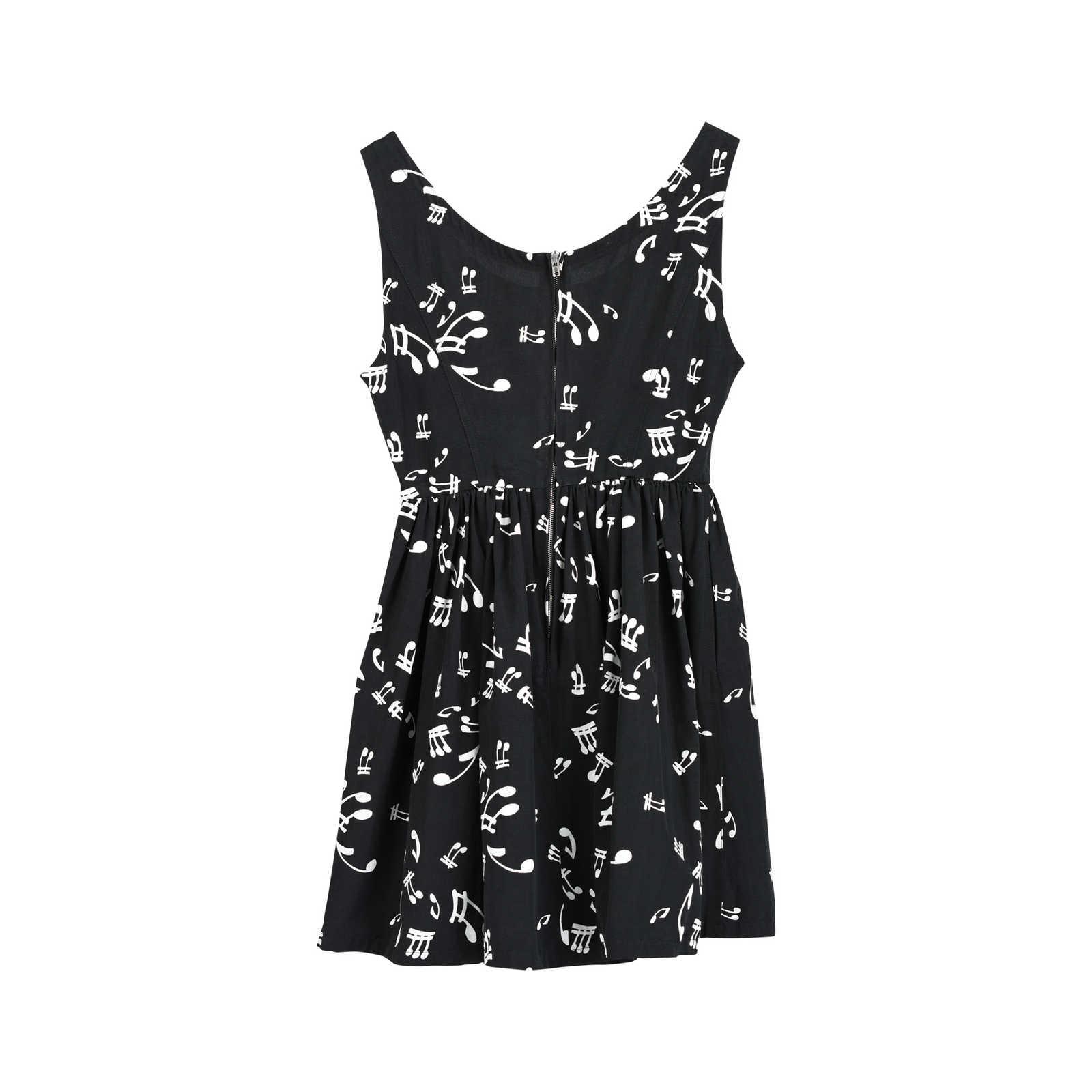 40a0a8f07776a ... Authentic Second Hand Miu Miu Silk Faille Music Notes Dress  (PSS-235-00136 ...