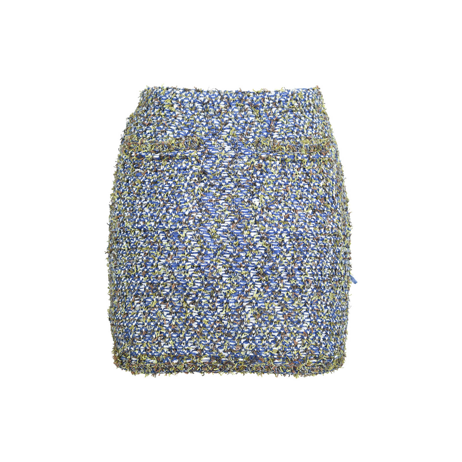 e6c555fc57be ... Authentic Second Hand Chanel Multicoloured Tweed Miniskirt  (PSS-235-00130) - Thumbnail ...