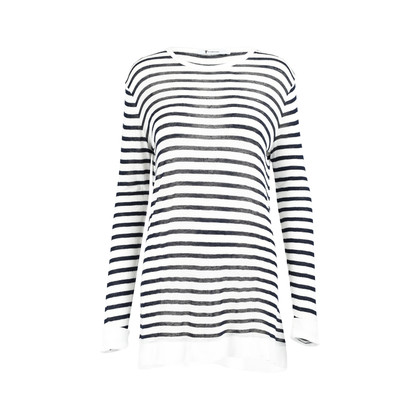 Authentic Second Hand T Alexander Wang Stripe Linen Tee (PSS-235-00116)