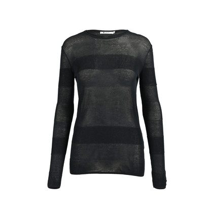 Authentic Second Hand T by Alexander Wang Sheer Knit Stripe Top (PSS-235-00121)