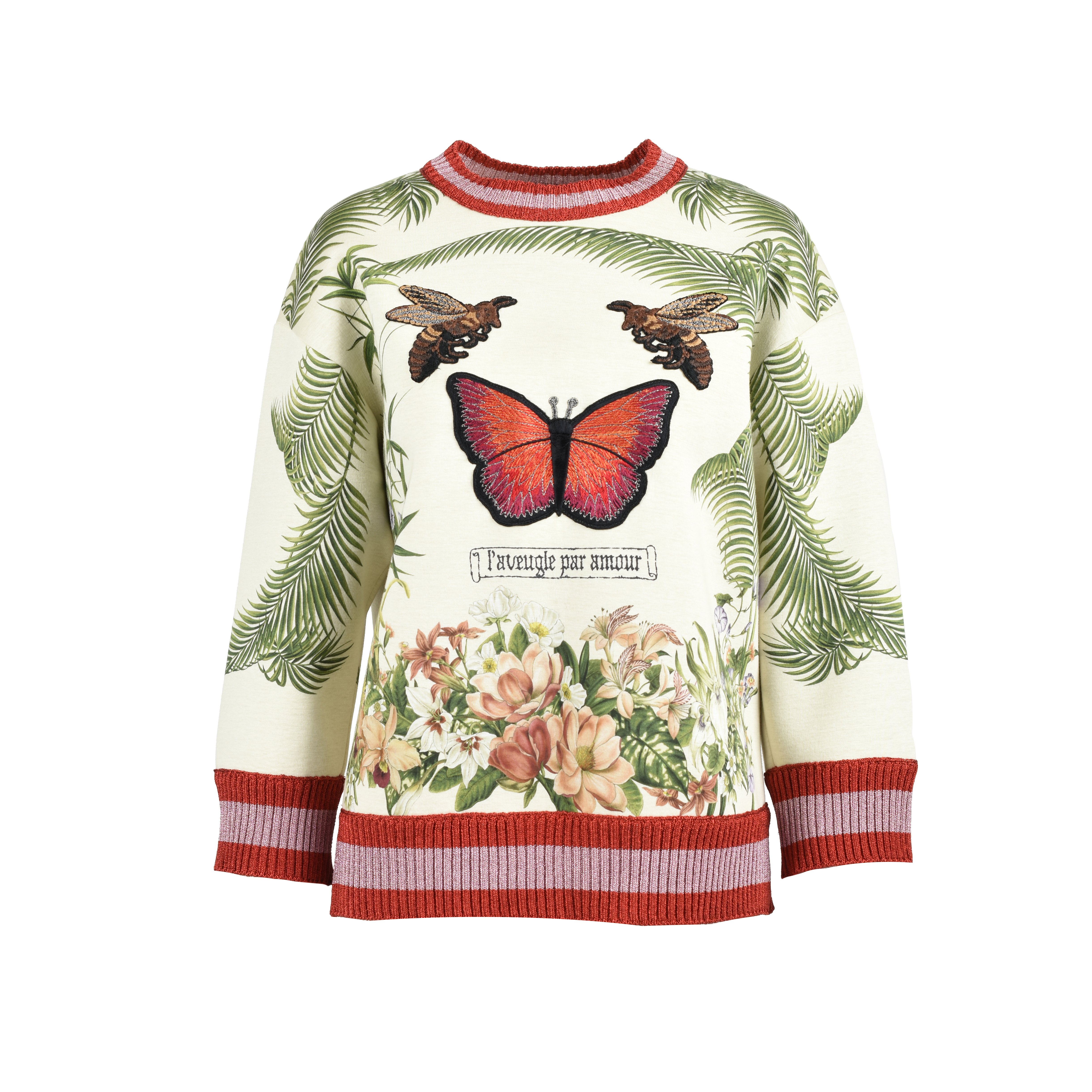 c19ce01463f Authentic Second Hand Gucci Butterfly and Bee Appliqué Sweatshirt  (PSS-051-00348)