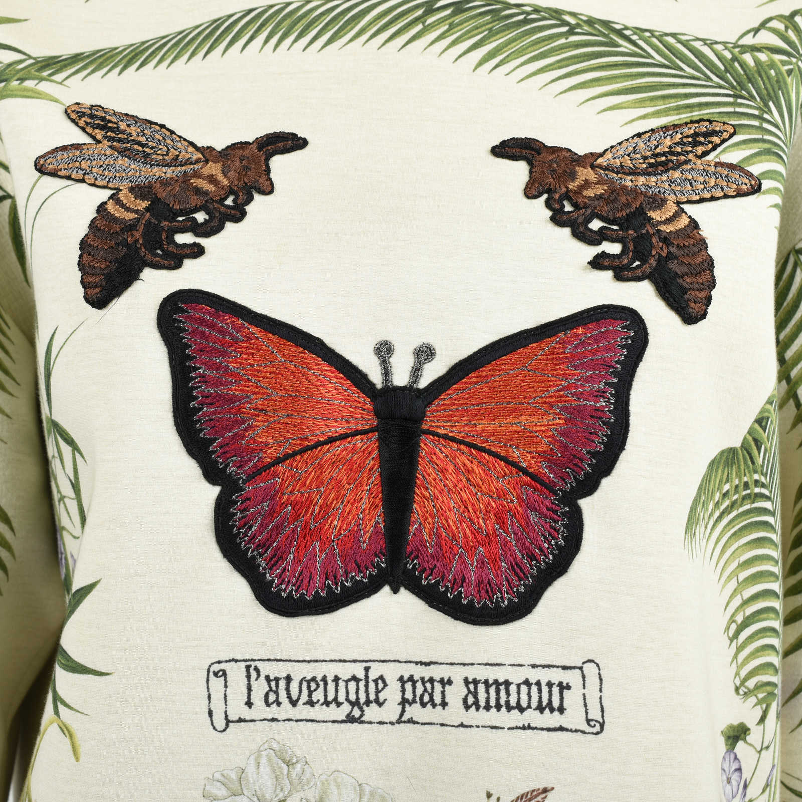 0d2a5df692a ... Authentic Second Hand Gucci Butterfly and Bee Appliqué Sweatshirt  (PSS-051-00348) ...