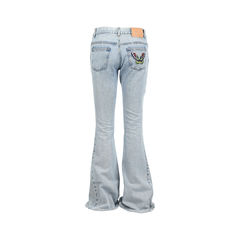 Gucci embroidered flared jeans 2?1528178882