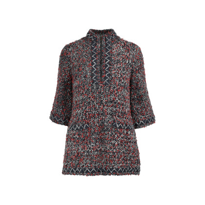 Authentic Second Hand Chanel Knit Tweed Tunic (PSS-200-01225)