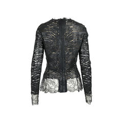 Alexandre vauthier lace and leather blouse 2?1528180140