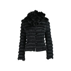 Tiered Fur Jacket