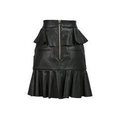 Balmain ruffled leather skirt 2?1528180335
