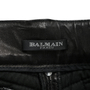 Authentic Second Hand Balmain Leather Biker Pants (PSS-200-01259) - Thumbnail 2
