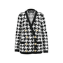 Authentic Pre Owned Balmain Houndstooth-Intarsia Knitted Jacket (PSS-200-01256) - Thumbnail 0