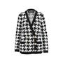 Balmain Houndstooth Intarsia Knitted Jacket - Thumbnail 0